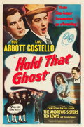 "Movie Posters:Comedy, Hold That Ghost (Eagle-Lion, R-1948). One Sheet (27"" X 41"").. ..."
