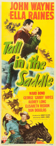 "Movie Posters:Western, Tall in the Saddle (RKO, 1944). Insert (14"" X 36"").. ..."