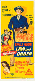 """Movie Posters:Western, Law and Order (Universal International, 1953). Australian Daybill (13"""" X 30"""").. ..."""