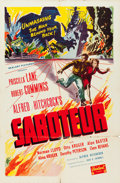 "Movie Posters:Hitchcock, Saboteur (Realart, R-1948). One Sheet (27"" X 41"").. ..."