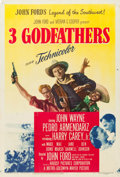 "Movie Posters:Western, 3 Godfathers (MGM, 1948). One Sheet (27"" X 41"").. ..."