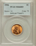 Lincoln Cents: , 1936 1C MS66 Red PCGS. PCGS Population (1763/210). NGC Census:(1404/634). Mintage: 309,637,568. Numismedia Wsl. Price for ...