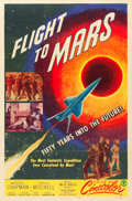 "Movie Posters:Science Fiction, Flight to Mars (Monogram, 1951). One Sheet (27"" X 41"").. ..."