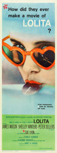 "Movie Posters:Drama, Lolita (MGM, 1962). Insert (14"" X 36"").. ..."
