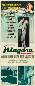 "Movie Posters:Film Noir, Niagara (20th Century Fox, 1953). Insert (14"" X 36"").. ..."