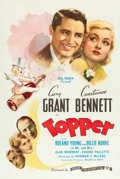 "Movie Posters:Comedy, Topper (Film Classics, R-1944). One Sheet (27"" X 41""). Comedy.. ..."
