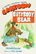 "Movie Posters:Animated, Busybody Bear (MGM, 1952). One Sheet (27"" X 41"").. ..."