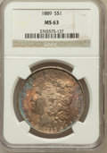 Morgan Dollars: , 1889 $1 MS63 NGC. NGC Census: (15306/16304). PCGS Population(13896/11557). Mintage: 21,726,812. Numismedia Wsl. Price for ...