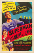 "Movie Posters:Action, Superman and the Mole Men (International Film, 1951). French Affiche (31.5"" X 47"").. ..."