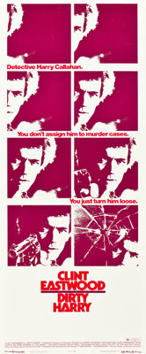 "Dirty Harry (Warner Brothers, 1971). Insert (14"" X 36"")"
