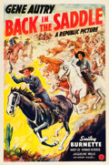 "Movie Posters:Western, Back in the Saddle (Republic, 1941). One Sheet (27"" X 41"").. ..."