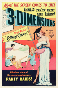 "College Capers (Lippert, 1953). One Sheet (27"" X 41"") 3-D Style"