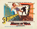"Movie Posters:Horror, House of Wax (Warner Brothers, 1953). Half Sheet (22"" X 28"") 3-D Style.. ..."