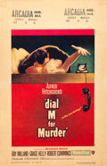 "Movie Posters:Hitchcock, Dial M for Murder (Warner Brothers, 1954). Window Card (14"" X22"").. ..."