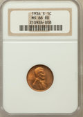 Lincoln Cents: , 1936-S 1C MS66 Red NGC. NGC Census: (645/113). PCGS Population(372/33). Mintage: 29,130,000. Numismedia Wsl. Price for pro...