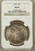 Morgan Dollars: , 1897 $1 MS64 NGC. NGC Census: (5972/1664). PCGS Population(4968/1757). Mintage: 2,822,731. Numismedia Wsl. Price for probl...