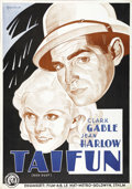 """Movie Posters:Romance, Red Dust (MGM, 1932). Swedish One Sheet (27.5"""" X 39.5""""). Directed by Victor Fleming. Starring Clark Gable and Jean Harlow. T..."""