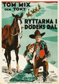 """Movie Posters:Western, The Rider of Death Valley (Universal, 1932). Swedish One Sheet (27.5"""" X 39.5""""). Directed by Albert Rogell. Starring Tom Mix ..."""