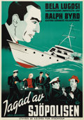 "Movie Posters:Adventure, S.O.S. Coast Guard (Republic, 1937). Swedish One Sheet (27.5"" X39.5""). Directed by Alan James and William Witney. Starring ..."