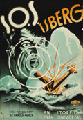 """Movie Posters:Adventure, S.O.S. Iceberg (Universal, 1933). Swedish One Sheet (27.5"""" X39.5""""). Directed by Tay Garnett. Starring Leni Riefenstahl and ..."""