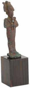 Sculpture, . Osiris. Middle Egypt, circa 664-332 B.C.. Bronze. Unmarked. 4 inches high. ...
