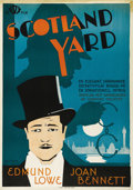 "Movie Posters:Crime, Scotland Yard (20th Century Fox, 1930). Swedish One Sheet (27.5"" X39.5""). Directed by Lumsden Hare. Starring Edmund Lowe, J..."