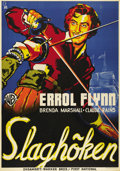 "Movie Posters:Swashbuckler, The Sea Hawk (Warner Brothers - First National, 1940) Swedish OneSheet (27.5"" X 39.5"") Art Style. Directed by Michael Curti..."