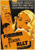 """Movie Posters:Comedy, Service de Luxe (Universal, 1938). Swedish One Sheet (27.5"""" X39.5""""). Directed by Rowland Lee. Starring Constance Bennett an..."""