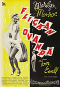"Movie Posters:Comedy, The Seven Year Itch (20th Century Fox, 1955). Swedish One Sheet(27.5"" X 39.5""). Directed by Billy Wilder. Starring Marilyn ..."