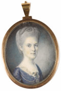 Fine Art - Painting, American:Antique  (Pre 1900), Charles Willson Peale (American, 1741-1827). . Mary Cox Morris,Wife of General Jacob Morris (1759-1827). Un...