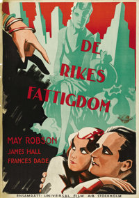 """The She-Wolf (Universal, 1931). Swedish One Sheet (27.5"""" X 39.5""""). Directed by James Flood. Starring May Robso..."""