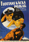 """Movie Posters:Musical, Shipmates Forever (Warner Brothers - First National, 1935). Swedish One Sheet (27.5"""" X 39.5""""). Directed by Frank Borzage. St..."""