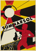 """Movie Posters:Documentary, Sommarsol (Unknown, C. 1930). Swedish One Sheet (27.5"""" X 39.5""""). This is a rare poster indeed, as we could not even find it ..."""