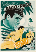 """Movie Posters:Adventure, South of Pago Pago (United Artists, 1940). Swedish One Sheet (27.5""""X 39.5""""). Directed by Alfred Green. Starring Victor McLa..."""