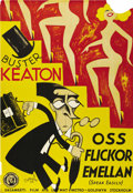 "Movie Posters:Comedy, Speak Easily (MGM, 1932). Swedish One Sheet (27.5"" X 39.5"").Directed by Edward Sedgewick. Starring Buster Keaton, Jimmy Dur..."