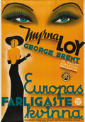 "Movie Posters:Romance, Stamboul Quest (MGM, 1934). Swedish One Sheet (27.5"" X 39.5"").Directed by Sam Wood. Starring Myrna Loy and George Brent. Th..."