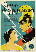 "Movie Posters:War, Storm at Daybreak (MGM, 1933). Swedish One Sheet (27.5"" X 39.5"").Directed by Richard Boleslavski. Starring Kay Francis and ..."