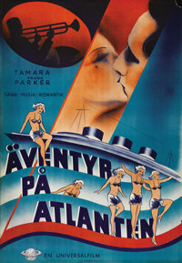 "Sweet Surrender (Universal, 1935). Swedish One Sheet (27.5"" X 39.5""). Directed by Monte Brice. Starring Frank..."