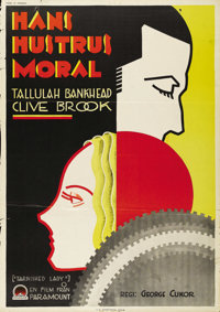 "Tarnished Lady (Paramount, 1931). Swedish One Sheet (27.5"" X 39.5""). Directed by George Cukor. Starring Tallul..."