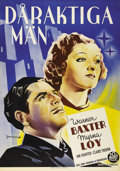 """Movie Posters:Romance, To Mary - With Love (20th Century Fox, 1936). Swedish One Sheet (27.5"""" X 39.5""""). Directed by John Cromwell. Starring Warner ..."""