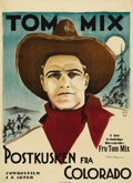 """Movie Posters:Romance, Told in Colorado (General Film, 1911). Swedish One Sheet (24"""" X 33""""). Directed by Joseph Golden. Starring Tom Mix. A very ra..."""
