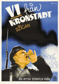 "Movie Posters:War, We Are From Kronstadt (Amkino Corporation, 1936). Swedish One Sheet(27.5"" X 39.5""). Directed by Efim Dzigan. Starring Vasil..."
