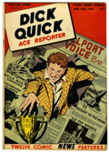 "Golden Age (1938-1955):Non-Fiction, Picture News #10 Dick Quick - Davis Crippen (""D"" Copy) pedigree(Lafayette Street Corp., 1947) Condition: VF+...."