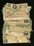 Confederate Notes:Group Lots, T73.. Parts of 1864 Notes.. ... (Total: 20 notes)