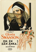 "Movie Posters:Comedy, What a Widow! (United Artists, 1930). Swedish One Sheet (27.5"" X39.5""). Directed by Allan Dwan. Starring Gloria Swanson, Ow..."