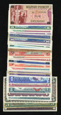 Military Payment Certificates:Series 611, MPC Group Lot.. ... (Total: 27 notes)