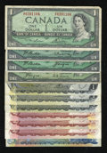 Canadian Currency: , Eighteen Dollars Face Canadian.. ... (Total: 11 notes)