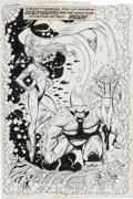 Original Comic Art:Splash Pages, Rob Liefeld and Joe Rubinstein The New Mutants Annual #5Namorita and Surf Pin-Up Original Art (Marvel, 1989)....