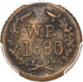 Coins of Hawaii, 1880 TOKEN Wailuku Half Real -- Environmental Damage -- PCGSGenuine Secure. AU Details. Medcalf 2TE-4...