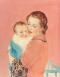 Paintings, WILLIAM FULTON SOARE (American, 1896-1940). Mother and Child. Oil on canvas. 27 x 21 in.. Signed lower right. ...
